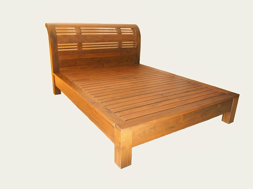 チークのベッド 大型のベッド ...